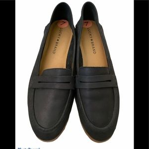 New Lucky Brand Caylon Leather Loafers - Black - 7
